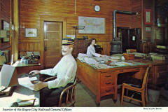 Interior of the Boyne City Railroad General Offices