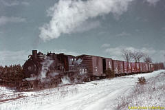 A winter freight run at Sayer Siding