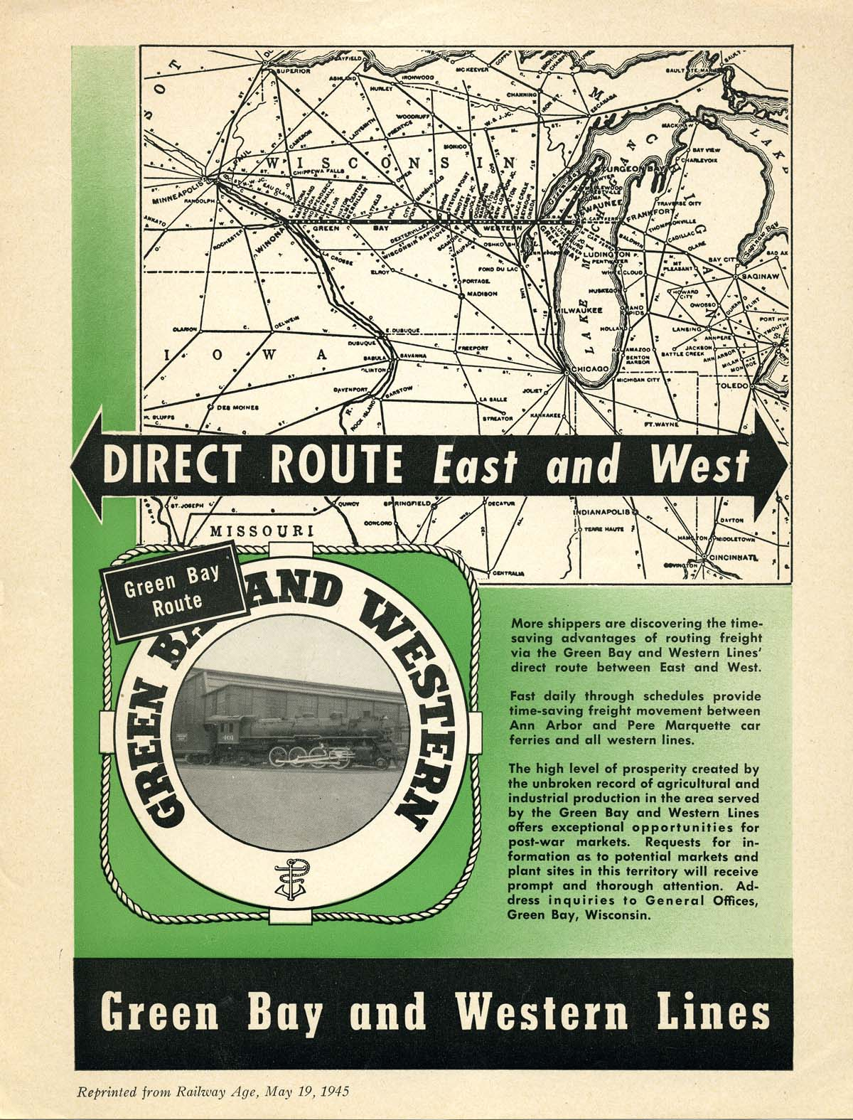 Diesel Near Me >> Green Bay & Western Railroad