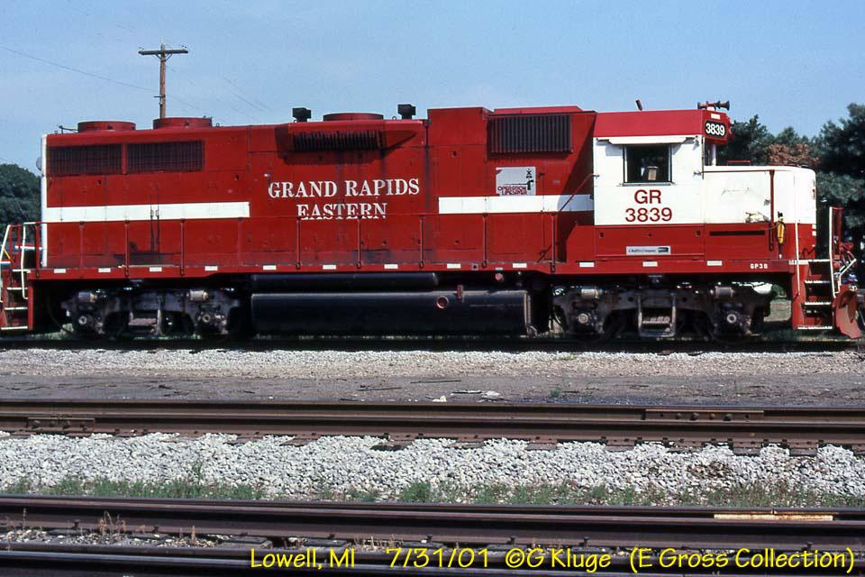 GP38 3839 ex GRE 5106,. Grand Rapids Enginehouse