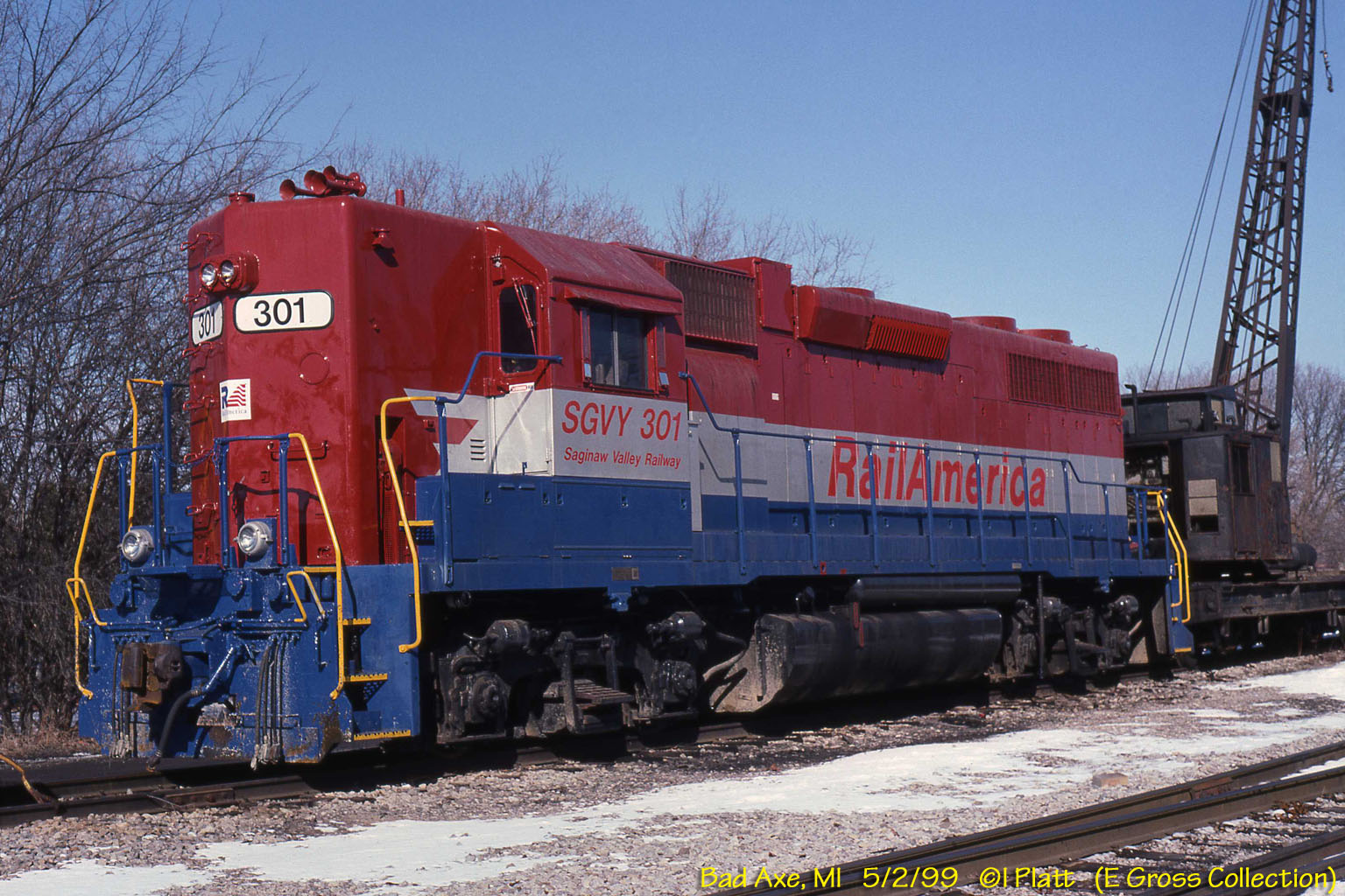 Sgvy S on Railroad Freight Car S